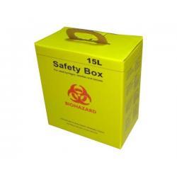 China Sharps Safety Boxes 15L safety box / syringe box/needle box FA-SA15L on sale