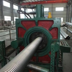 China Fast Delivery Corrugated Steel Pipe Making Machine on sale