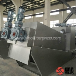 China Waste Water Screw Filter Press on sale