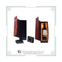 China Customized luxury wooden gift wine packaging box on sale