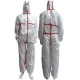 Tear Resistant Clean Room Bunny SuitAnti - Shrink With Adhesive Sealed Tape