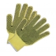 Double Sides PVC Dotted Hand Protection Gloves Cotton Knit Work Gloves