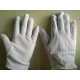 Static Resistant Gloves , Mens White Cotton Gloves Excellent Stretch Tension