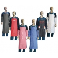 Non - Woven Fabric PVC Water Resistant Kitchen Apron For Dishwashers / Cooking