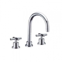China Dual handle basin mixer on sale