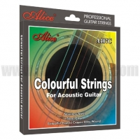 Alice Strings Colorful Acoustic. Colorful Acoustic Guitar Strings A407C