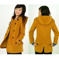 Foodstuffs Smart Casual Pure wool jacket coat medium-and long self-cultivation