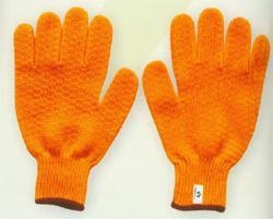 China T/C knitted gloves Product namePoly/acrylic criss cross gloveART.NO.P008 on sale