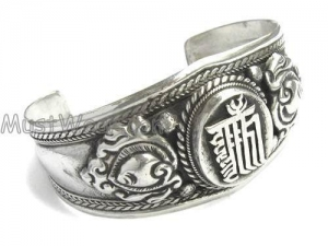 China Tibetan Silver Cuff Bracelet on sale