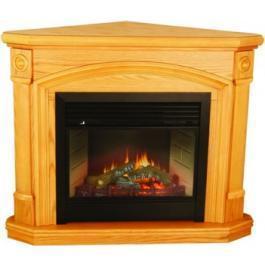 China Kensington Corner Oak Dual-Fuel Ventless Gas Fireplace on sale