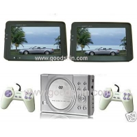 China DUAL screen DVD player L-PD300 hot Portable/Car DVD player with TWO 7 Screens, TV, MP4 (DivX) and 300 Games on sale