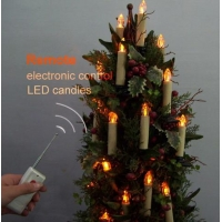 China Remote Control Candle Christmas Light Remote Control LED Candle 10-PACK Model No: Christmas Light Remote Control LED Candle 10-PACK on sale