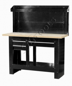 China Workbench Item 3-Drawer WorkBench with Pegboard Backwall on sale