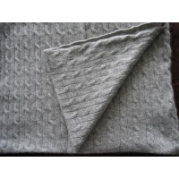 China Cashmere Blankets Cable Knit Cashmere Blanket on sale