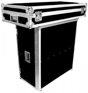 China Flight Case DJ STAND FOR COFFINS WITH BUILT IN SHELF - FOLDS DOWN FOR EASY TRANSPORTDimensions: Inches: 37.5 h X 48 w X 24.25 d Centimeters: 95.25 h X 121.92 w X 61.6 d on sale