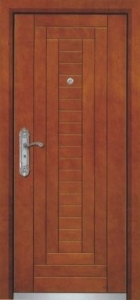 China Steel-wooden Armored door PVC fence (Vinyl fence) Product No.:4011303 on sale