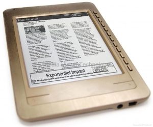 China 6.0 Inch Superslim Touch Screen eBook Reader with WiFi + Adobe DRM Ready on sale