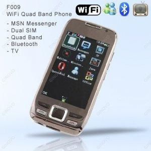 China F009 Unlocked WiFi Quad Band Dual SIM Touch Screen Cell Phone with MP4, MP3, Bluetooth on sale
