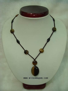 China tiger's eye Oval pendant 【Name】Oval pendant necklace on sale