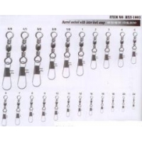 Products List Barrel Swivel with inner lock snap