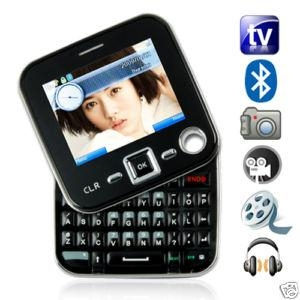 China Mobile Phone Name:QWERTY Keyboard Fashion TV mobile phone on sale