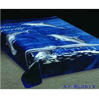 blue colour cheap price polyester blanket in yiwu China