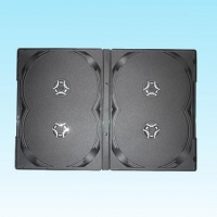 China CD/DVD 3,5,..PCS/PACK 14mm DVD Case for 4CD, Black on sale