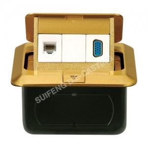 China Floor Sockets FloorSocketEO-... Floor Socket15 pin computer (hole type) & computer network socketItems :EO-1028Material:BrassSize:120*120*60mmFinishing:BP ,CP110-250V,10A on sale