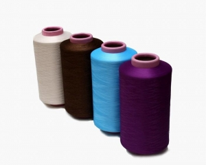 China Polyester Dope Dyed DTY, Semi Dull, Heavy-Intermingled on sale