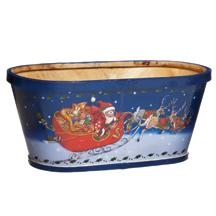 China Exclusives Santa's Blue Split Wood Basket (13 on sale