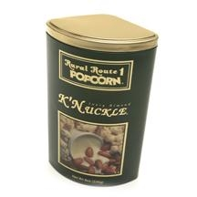 China Baby Products Rural Route 1 Popcorn Tins - K'Nuckle- Green (Almonds and White Fudge) 12/226g/8oz on sale