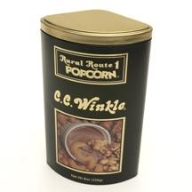 China Baby Products Rural Route 1 Popcorn Tins - C.C. Winkle -Black (Caramel Corn and Cashews dipped in Fudge) 12/226g/8oz on sale