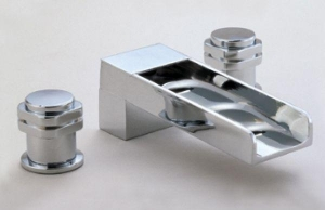 China SQUARE AND RHOMBUS SERIES 3-hole canal bath-tub mixer on sale