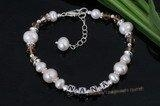 China Nbr004 Nana sterling silver Pearl Name Bracelet[custom name bracelet] on sale