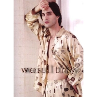 China Silk Pajamas Men's Silk Pajamas on sale