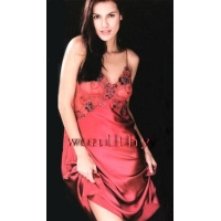 China Silk Pajamas Silk Robes for Women (RED) on sale