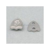 Scutiform alloy rivet