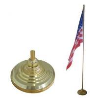 indoor golden flagpole