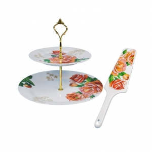 China giftware 2 layers cake stand on sale