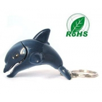 LED Products HL2009--Dolphine LED Keychain with Sound,Animal Flashlight/Torch
