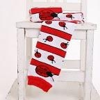 China All-In-One (AIO) (8) Arm & Leg Warmers - 1 pair - Ladybugz - size Toddler on sale