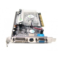 Add on Card Mode Number:256M FX5500 AGP-1Product NEW 256MB FX 5500 AGP TV-OUT Video Card FX5500 W/ DVIadvanced vertex and pixel shader capabilities, stunning and complex special effects are possible. In addition, increased horsepower delivers faste