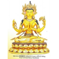 China Tantric Buddhist SM-04 four-armed God (SM-04 four-armed Goddess of Mercy) on sale