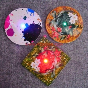 China Bar Lighting LED Paper Coaster on sale