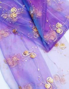 China spangle embroidery curtain fabrics FDBL-6016 on sale