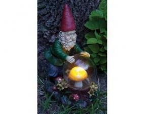 China Polyresin Gnomes Figurines Polyresin Solar Garden Gnome on sale