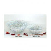 Egg Shell Art Glass Bowl Item No: HJ642-39-B85