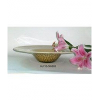 Egg Shell Art Glass Plate Item No: HJ715-38-B83