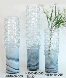 China Reticular Wrap Art Glass Vase Item No: HJ640-40-D65 on sale