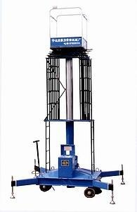 China Telescopic cylindrical aerial lift table on sale